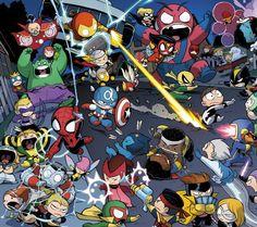 Avengers vs X-men babies - visit to grab an unforgettable cool 3D Super Hero T-Shirt!                                                                                                                                                                                 More