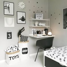 Love this kid's room! String furniture, Menu Carrie LED lamp and A4 Lightbox are all available at www.istome.co.uk