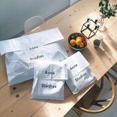 Throwback, Acne Studios packaging