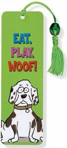 Eat, Play, Woof Beaded Bookmark , Books & Gifts, Beaded Bookmarks, Peter Pauper Press