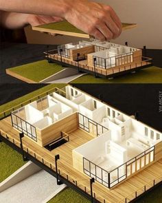 Model by Sweet OnionCreations ________________________________ . Tag your archi friends. Maquette Architecture, Architecture Model Making, Concept Architecture, Architecture Details, Interior Architecture, Computer Architecture, English Architecture, Arch Model, Model Homes