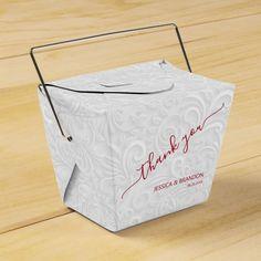 Caja Para Regalos Moda Cranberry Gracias Boda Filigero Blanco