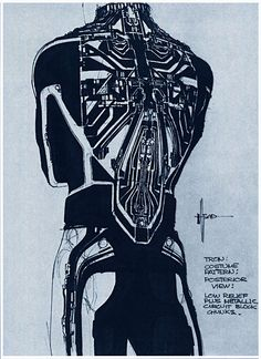 Tron Costume: A circuit pattern costume design by Syd Mead (via The Pictorial Arts: Visualists)
