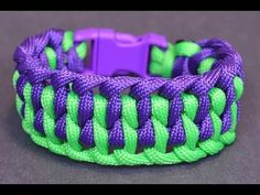"""▶ How to Make the """"Wide Genoese"""" Paracord Bracelet with Buckle - BoredParacord - YouTube"""