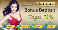 Dapatkan bonus deposit togel sebesar 3% setiap hari nya hanya di 818togel.net #BonusTogel #TogelOnline #BandarTogelTerpercaya #AgenTogelOnline #BandarTogelResmi #BOaman #BOterpercaya #Togel #TogelHK #TogelSGP #Togelsydney #TogelHariIni