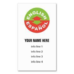 Simple talk bubbles podiatrist business card podiatrist business shop english espaol bilingual symbol business card created by sideview colourmoves