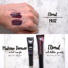 High end vs drugstore : Makeup Forever artist acrylic $24 vs L'Oreal infallible paints $10
