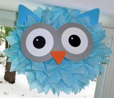 Owl pom pom kit baby shower first birthday by TheShowerPlanner
