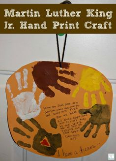 A fun and easy craft to do with children for Martin Luther King Jr. Day http://mamato5blessings.com/?p=9618