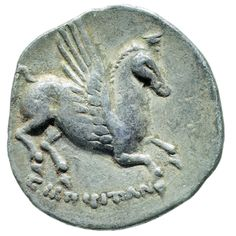 THE EUROPE OF GREECE: Colonies and Coins From the Alpha Bank Collection - Jointly organised by the Archaeological Museum of Thessaloniki and the Alpha Bank Numismatic Collection Alpha Bank, Minoan Art, Mycenae, Winged Horse, Coin Art, Old Money, Parthenon, Thessaloniki, Ancient Artifacts