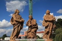 Statues, Stone Bridge, Pisek, Czech Republic