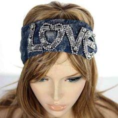 "Denim ""LOVE"" Headband"