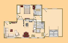 This is a 674 sq. ft. small house floor plan that I have been sitting on for 6 months. Would you want to see this as a Cozy home?