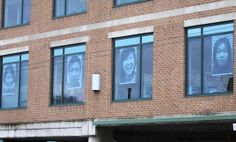 The VDSC's Inside Out Action on the VSB Education Office windows