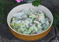 Surówka z rzodkiewkami, ogórkami i sałatą lodową