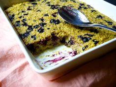 Blueberry bun porridge (gluten and dairy free)