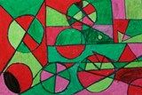 Artsonia Art Exhibit :: Geometric Shapes with Tints and Shades of Complementary Colors, 5th grade