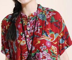 cotton Women Short sleeve dress/ Maxi dress/ Mini Long dress