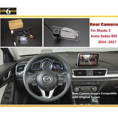 For Mazda 3 Mazda3 Axela Sedan BM 2014~2017 / Car Rear View Back Up Reverse Camera Sets / RCA & Original Screen Compatible