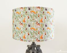 Excited to share the latest addition to my #etsy shop: Woodland Animals Lampshade, Fox Lamp Shade, Drum Lampshade, Nursery Lampshade, Woodland Nursery, Handmade Lighting, Ceiling Lampshade