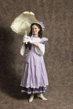 $25.00 Costume Rental   Pirates Dress Purple  purple dress w/checked pinafore