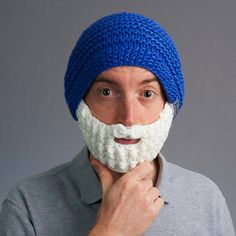 Beardo Bearded Hats For Winter Warmth Nhl Hockey Teams, Beard Beanie, Boys Accessories, Hand Knitting, Knitted Hats, Winter Hats, Blue And White, The Originals, Snowboarding