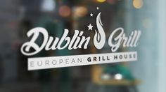 """This is a mockup with logo by JM Graphics Canada made for """"Dublin Grill"""" prototype Web Design, Logo Design, Graphic Design, Dublin, Mockup, Banner, Canada, Graphics, Logos"""