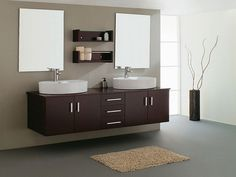 Double Contemporary Sink Bathroom Vanities Cabinets ~ http://lanewstalk.com/the-functional-bathroom-sink-cabinets/
