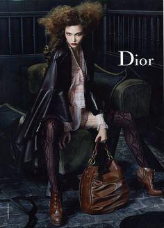 Dior F/W 10 client: dior Campaign Credits: Steven Meisel - Photographer Edward Enninful - Fashion Editor/Stylist Garren - Hair Stylist Pat McGrath - Makeup Artist Karlie Kloss - Model