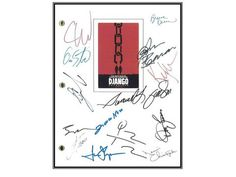 Django Movie Script Signed Autographed: Quentin Tarantino, Jamie Foxx, Christoph Waltz, Leonardo DiCaprio, Kerry Washington