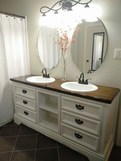 Dresser Turned Into A Double Sink Vanity By Keri Gwynn And Husband What A G