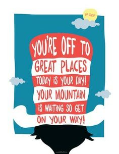Free Dr Suess - You're Off To Great Places Poster