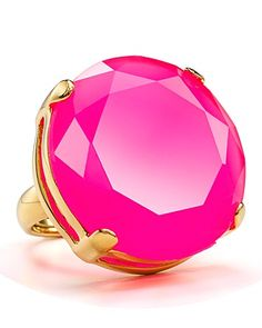 kate spade new york cameo jewels ring - neon pink Jewelry Box, Jewelry Accessories, Fashion Accessories, Fashion Jewelry, Jewelry Rings, Pink Jewelry, Pink Love, Pink And Gold, Hot Pink