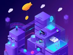 Differentiate from your competitors in this crypto business. A small collection of 20 isometric illustrations with cryptocurrency theme. Mining gigs, blockchain structures, it's all here, even a bitcoin city. Disclosure: This is a sponsored ad to site Isometric Art, Isometric Design, Web Design, Avakin Life, Business Illustration, Design Development, Graphic Design Inspiration, Game Art, Service Design
