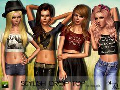 Black Lily's Teen Stylish Crop Top