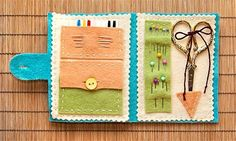 DIY Sewing Kit  http://sew4home.com/projects/fabric-art-a-accents/653-felt-travel-sewing-kitty