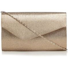 Debut Gold glitter asymmetric clutch bag (325.280 IDR) ❤ liked on Polyvore featuring bags, handbags, clutches, brown handbags, gold handbags, glitter handbag, gold glitter handbag and brown purse