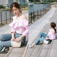 Get this look: http://lb.nu/look/8756873  More looks by Mizuho K: http://lb.nu/xoxohilamee  Items in this look:  Shein Frill Stripe Blouse, Xoxo Hilamee More Details On, Instagram Follow Me @Xoxo Hilamee   #casual #chic #feminine