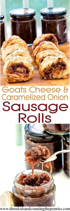 These AMAZING goats cheese and caramelised onion sausage rolls are packed with flavours that all compliment each other so well.