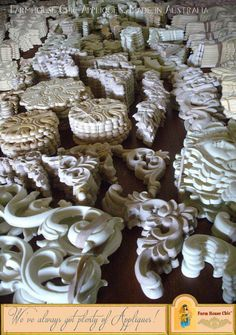 Shabby French Provincial ~ Resin Furniture Applique Crest ~ Carving ~ Moulding