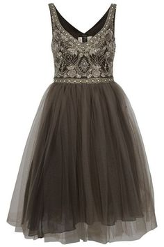1950's tulle and beaded bodice  cocktail dress