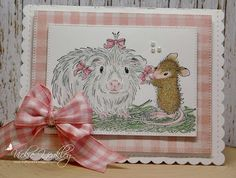 On The Fringe: House Mouse & Friends Monday Challenge #262 Ribbons & Bows