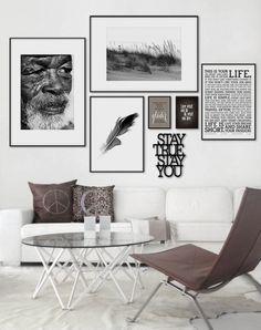 Fin upphängning av tavlor och fin färgskala
