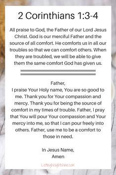 2 Corinthians – Letting His Light Shine Prayer Scriptures, Bible Prayers, Faith Prayer, God Prayer, Prayer Quotes, Biblical Quotes, Bible Verses Quotes, Faith Quotes, Spiritual Quotes