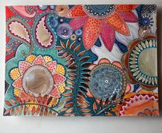 original abstract gouache and markers painting by Elena Nuez Yellena James, Illustrations, Illustration Art, Stippling Art, Deco Nature, Organic Art, Tangle Art, Naive Art, Aboriginal Art