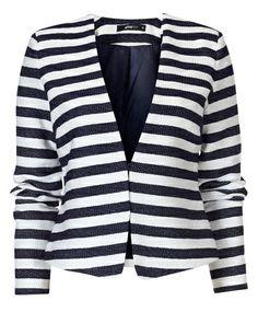 Gina Tricot - Nicole jacket Offwhite/stripe (1100)