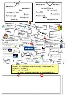 activité gustar 3è, advanced or 3, facebook, likes/disklikes extended