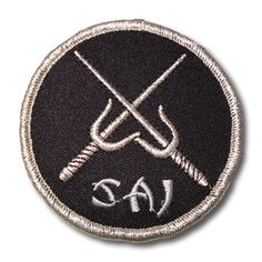Silver Sai Patch now available at http://www.karatemart.com