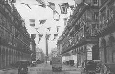 La décoration de la rue de Castiglione pour les fêtes de la Victoire, le 19 juillet 1919 - Paris 1er