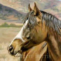 Colorful Mustang Oil Painting by andreenharrisart on Etsy, $1340.00